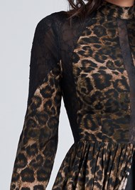 Detail front view Animal Print Lace Dress