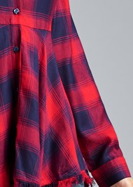 Detail front view Plaid High Low Top