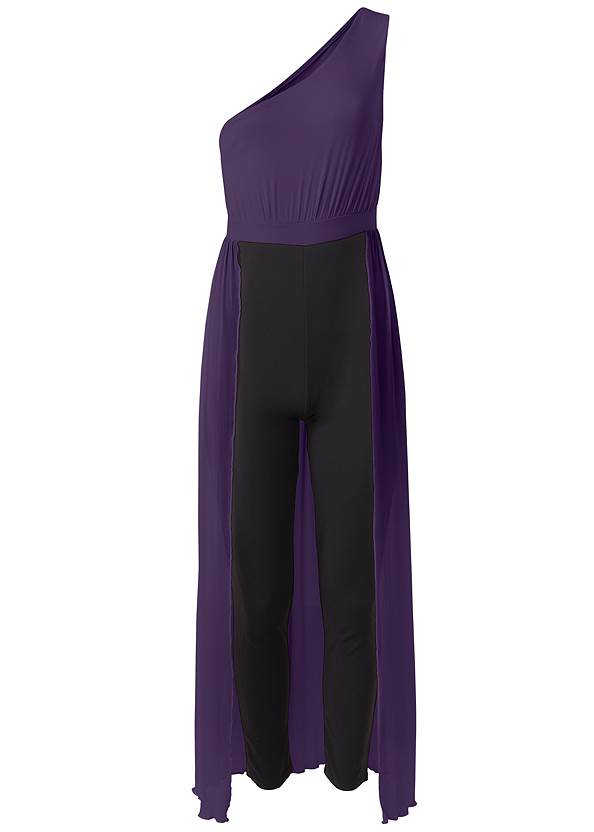 Ghost with background  view One Shoulder Jumpsuit