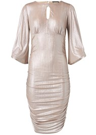 Ghost with background  view Metallic Ruched Dress