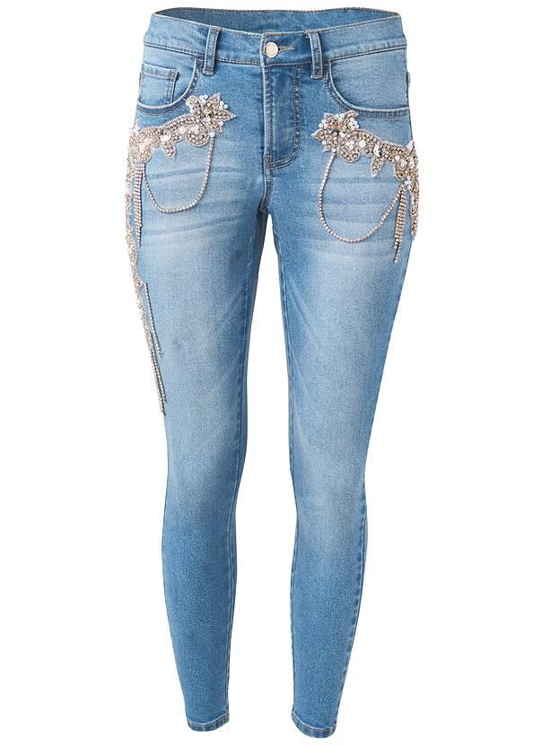 Alternate View Crystal Embellished Skinny Jeans