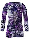 Ghost with background  view Animal Print Top