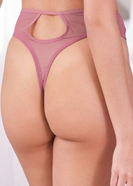 Detail back view Lace Bra Panty Set
