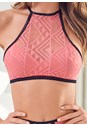 Detail front view Bralette And High Waist Panty