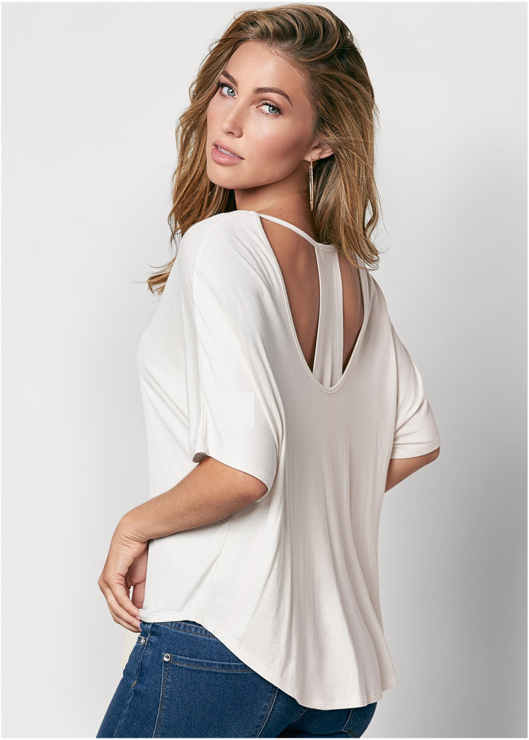 Racerback Basic Top,Mid Rise Color Skinny Jeans,Strap Solutions