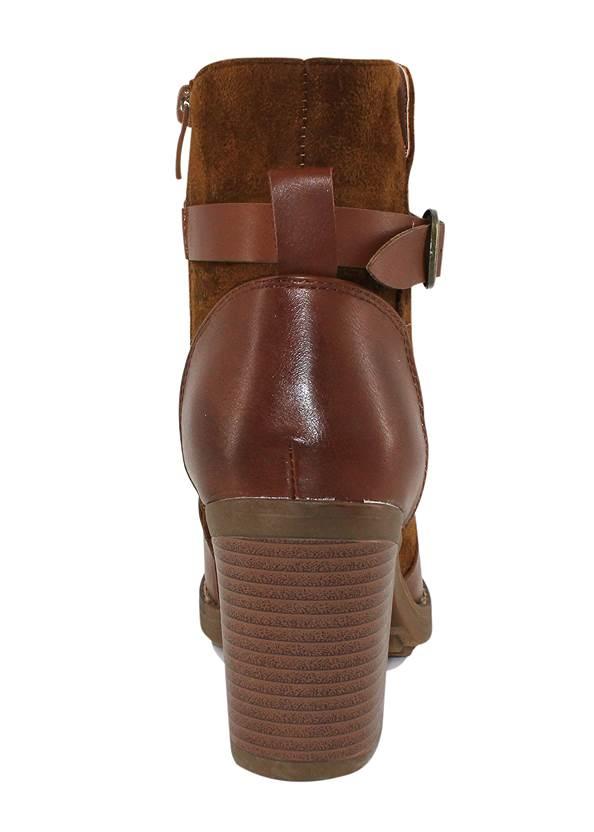 Shoe series back view Belt Buckle Detail Bootie