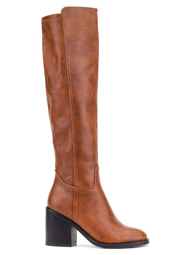 Shoe series side view Knee High Block Heel Boots