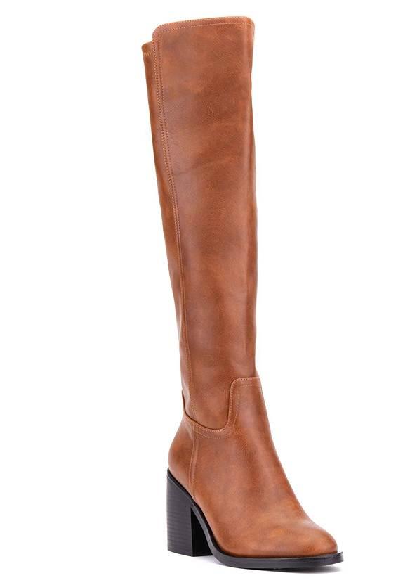 Shoe series 40° view Knee High Block Heel Boots