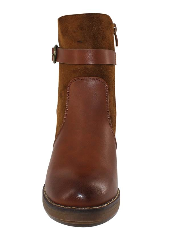 Shoe series front view Belt Buckle Detail Bootie
