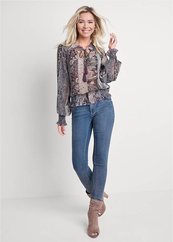 Full front view Paisley Print Top