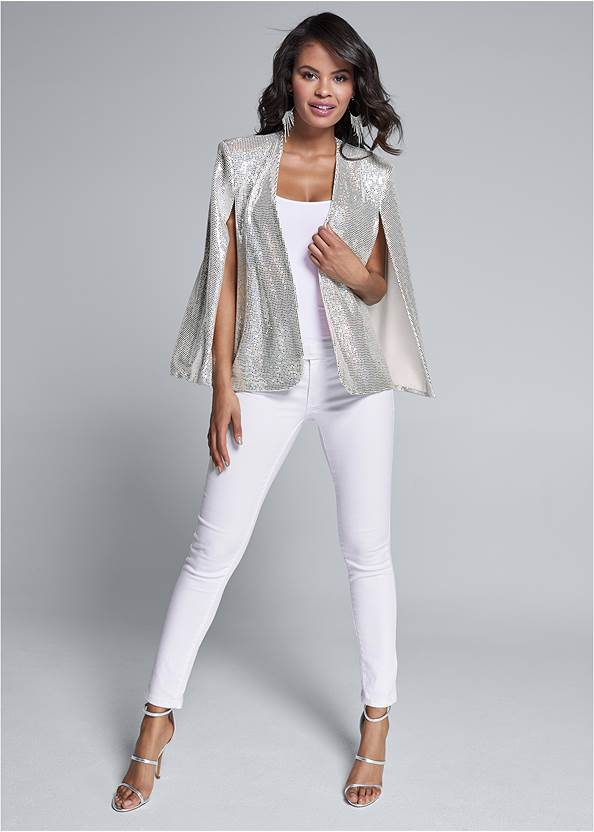 Full front view Sequin Cape