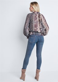 Full back view Paisley Print Top