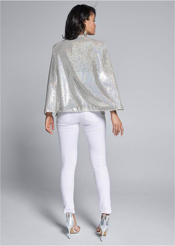 Full back view Sequin Cape