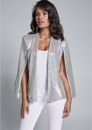 Cropped front view Sequin Cape