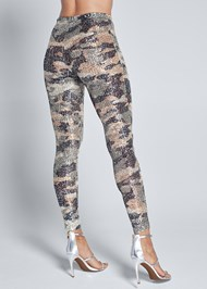 Back View Sequin Camo Leggings