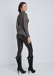 Back View Seamless Turtleneck Top