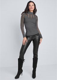 Alternate View Seamless Turtleneck Top