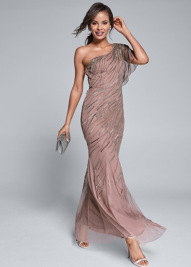 sequin detail gown