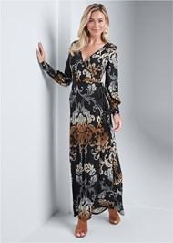 Full front view Tassel Detail Long Dress