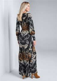 Full back view Tassel Detail Long Dress