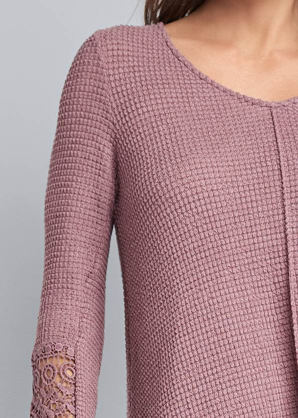 Alternate View Casual Waffle Knit Top