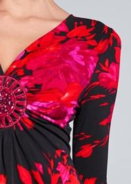 Alternate View Embellished Floral Top