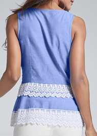 Alternate View Eyelet Sleeveless Top
