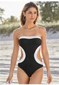 Cropped front view Bandeau Monokini