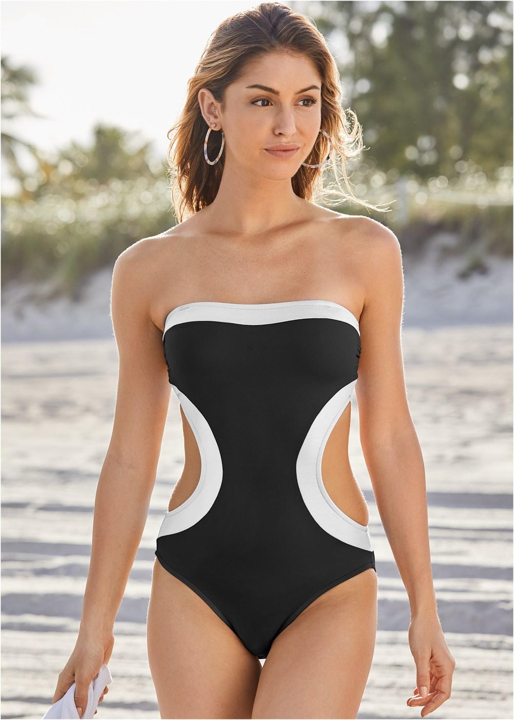 Bandeau Monokini,Mesh Dress/Skirt