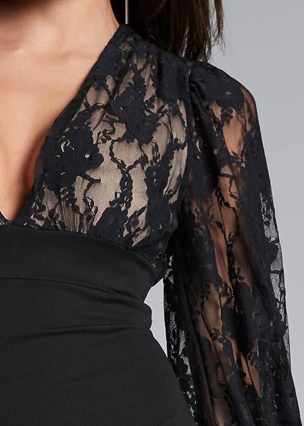 Alternate View Lace Detail Twofer Dress