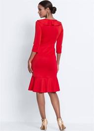 Full back view Wrap Detail Dress