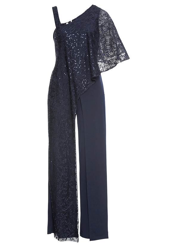Ghost front view Lace Overlay Jumpsuit