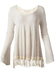 Ghost with background  view Fringe Casual Top