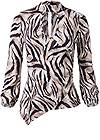 Ghost with background  view Tiger Print Surplice Top