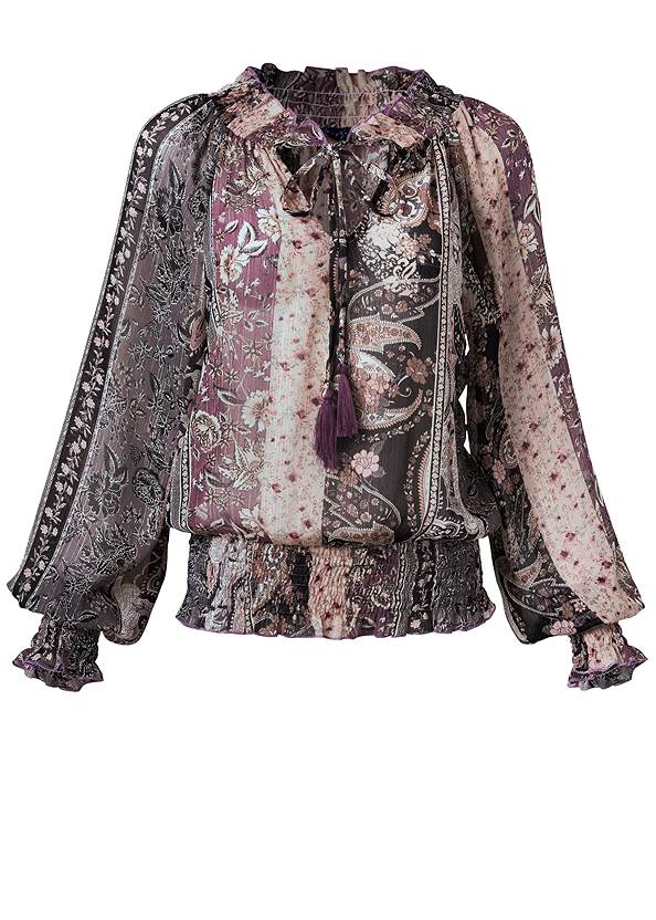 Ghost with background  view Paisley Print Top