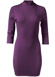 Alternate View Mock Neck Ribbed Dress