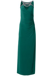 Ghost with background  view Embellished Trim Long Dress
