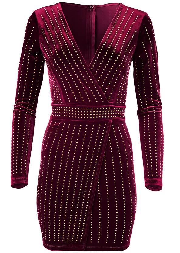 Alternate View Embellished Velvet Dress