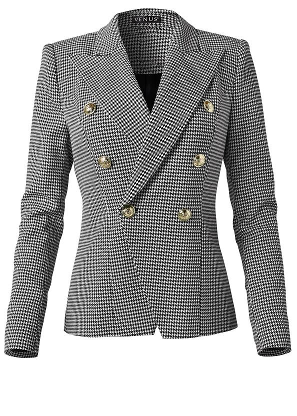 Ghost with background  view Houndstooth Double Breasted Blazer
