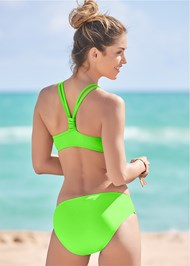 Full back view Ballet Swim Top