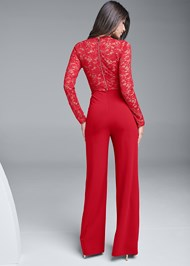 Back View Lace Detail Jumpsuit