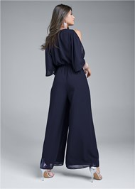 Back View Cold Shoulder Jumpsuit