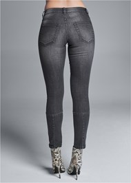 Waist down back view Stud Detail Skinny Jeans