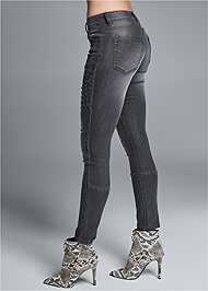 Waist down side view Stud Detail Skinny Jeans