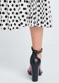 Detail back view Polka Dot Pleated Skirt