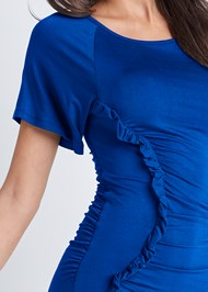 Detail front view Ruched Casual Dress