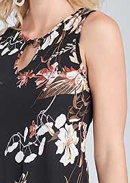Alternate View Floral Printed Casual Dress