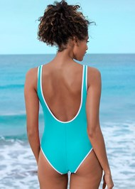 Cropped back view Sporty One-Piece