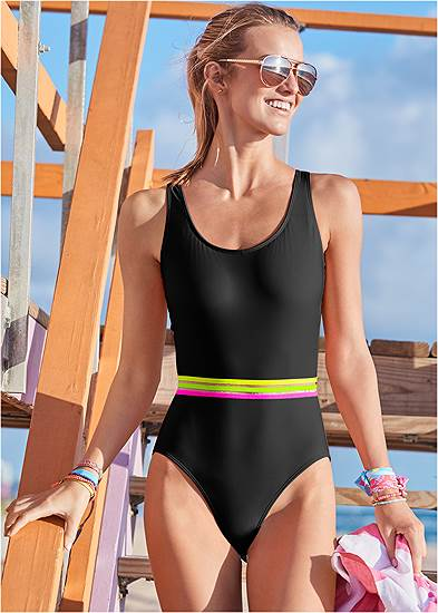 Neon Banded One-Piece