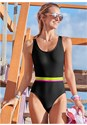 Cropped front view Neon Banded One-Piece